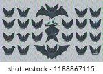 halloween bat smiley set.... | Shutterstock .eps vector #1188867115
