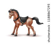 vector horse realistic toy with ...   Shutterstock .eps vector #1188867295