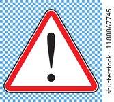 danger sign  warning sign ... | Shutterstock .eps vector #1188867745