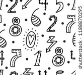 vector seamless pattern with... | Shutterstock .eps vector #1188870295