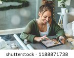 buying christmas gifts  ... | Shutterstock . vector #1188871738
