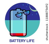 vector life battery set of... | Shutterstock .eps vector #1188875692