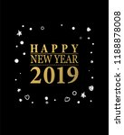 2019 happy new year card or... | Shutterstock .eps vector #1188878008