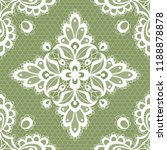 white floral lace seamless... | Shutterstock . vector #1188878878