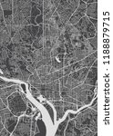 city map washington  monochrome ... | Shutterstock .eps vector #1188879715