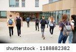 rear view of high school... | Shutterstock . vector #1188882382