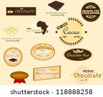 chocolate labels   Shutterstock .eps vector #118888258