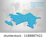 modern of azerbaijan map... | Shutterstock .eps vector #1188887422