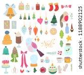 pack of cute christmas... | Shutterstock .eps vector #1188902125