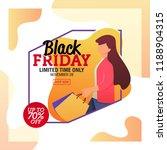black friday sale banner... | Shutterstock .eps vector #1188904315