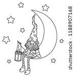 vector   gnome cartoon sitting... | Shutterstock .eps vector #1188907168