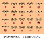 comic emotions. woman with... | Shutterstock .eps vector #1188909142