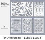 set decorative card for cutting.... | Shutterstock .eps vector #1188911035