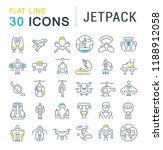 set of vector line icons of... | Shutterstock .eps vector #1188912058