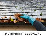 Clearing Autumn Gutter Blocked...
