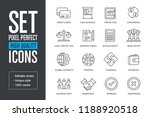 set pixel perfect high quality... | Shutterstock .eps vector #1188920518
