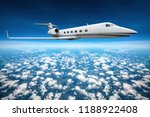 private jet flying on a high... | Shutterstock . vector #1188922408