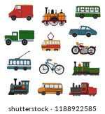 vector colored set of retro... | Shutterstock .eps vector #1188922585