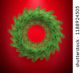 new year and christmas wreath... | Shutterstock .eps vector #1188924505