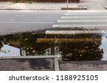 damaged road  cracked asphalt... | Shutterstock . vector #1188925105