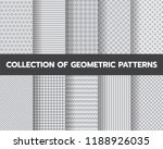 10 different geometric patterns ... | Shutterstock .eps vector #1188926035