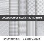 10 different geometric seamless ... | Shutterstock .eps vector #1188926035