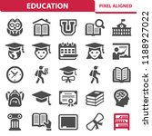 education icons. professional ... | Shutterstock .eps vector #1188927022