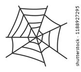 spider web thin line icon.... | Shutterstock .eps vector #1188927295