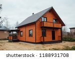 wooden country house exterior | Shutterstock . vector #1188931708