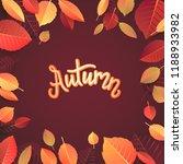 autumn lettering. hand written... | Shutterstock .eps vector #1188933982