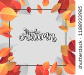 autumn lettering. hand written... | Shutterstock .eps vector #1188933985