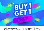 buy1 get1 free poster design... | Shutterstock .eps vector #1188934792
