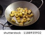 crispy croutons fried with... | Shutterstock . vector #1188935932