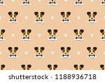 vector cartoon jack russell... | Shutterstock .eps vector #1188936718