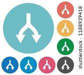 split arrows down flat white...   Shutterstock .eps vector #1188939418