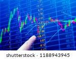 stock market graph chart. the... | Shutterstock . vector #1188943945