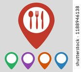 map marker location with fork... | Shutterstock .eps vector #1188946138