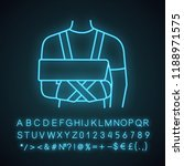 shoulder immobilizer neon light ... | Shutterstock .eps vector #1188971575