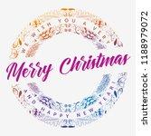vector round christmas frame... | Shutterstock .eps vector #1188979072
