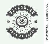vintage retro halloween logo ...   Shutterstock .eps vector #1188979732