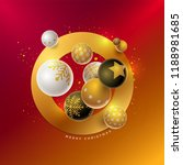 vector christmas and new year... | Shutterstock .eps vector #1188981685