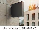 blank black square store... | Shutterstock . vector #1188983572