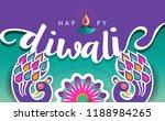happy diwali festival. | Shutterstock .eps vector #1188984265