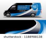 van wrap design. wrap  sticker... | Shutterstock .eps vector #1188988138