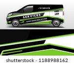 van wrap design. wrap  sticker... | Shutterstock .eps vector #1188988162