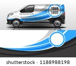 van wrap design. wrap  sticker... | Shutterstock .eps vector #1188988198