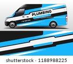van wrap design. wrap  sticker... | Shutterstock .eps vector #1188988225