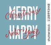 vector holidays lettering.... | Shutterstock .eps vector #1188993448