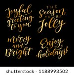 vector set of holidays... | Shutterstock .eps vector #1188993502