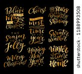 vector set of holidays... | Shutterstock .eps vector #1188993508